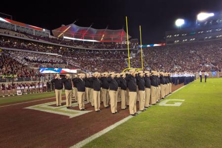 FSU ROTC at Football Game